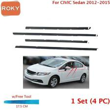 For Civic Sedan 2012 2015 Window Weatherstrip 1 Set 4pc Sweep Belt Outer Black Fits 2013 Honda Civic Si