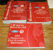 2007 Ford Freestyle Five Hundred Montego Shop Service Manual Vol 1 & 2 + Wiring