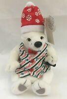 Vintage 1999 Collectible Coca Cola Polar Bear Bean Bag Plush Winter Toy 0208