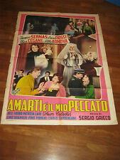 MANIFESTO,1954,AMARTI E' IL MIO PECCATO,SUOR CELESTE,Cegani,Arnova,J.Sernas