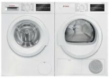 Bosch 300 Front Load White Washer + Dryer set  WAT28400UC / WTG86400UC
