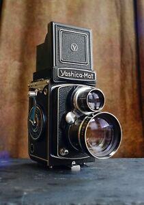 Yashica Mat 6x6 TLR Film Camera + Yashica Yashinon Telephoto Lens Set ( Tested )