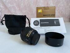 Objektiv Nikon AF-S NIKKOR 50mm 1:1.8G; NEUWERTIG! 5 Jahre Garantie! Rechnung