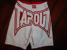 Boys Tapout Board Shorts White/Red Size 18 EUC!