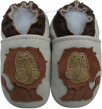 shoeszoo soft sole leather baby shoes lion king 0-6m