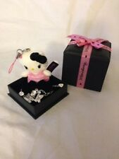 Hello Kitty Momoberry Sanrio Sterling Silver Bracelet Plush Charm RARE