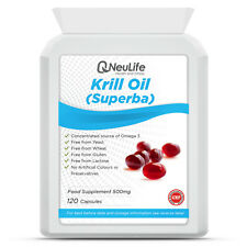 Krill Oil (Superba) - 500mg - 120 Capsules
