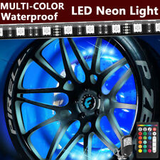 4X All-Color Wheel Well LED Light Kit Custom Accent Neon INTERIOR Strip Rim Tire