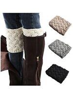 Womens Winter Leg Warmers Crochet Knit Boot Socks Toppers Cuffs Knitwear Fashion