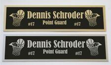 Dennis Schroder nameplate for signed basketball photo jersey or case