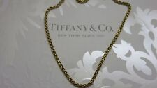 "TIFFANY & Co.~Woven or Braided Link Chain~Solid 18K Yellow Gold~24"" Long~Estate!"