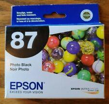 OEM Epson T087120 Photo Black Ink Cartridge Stylus Photo R1900