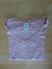 Tshirt Shirt Sport Damen rose Stretch von adidas Gr. 34 mit Druck Glitzer TOP