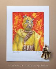 Star Wars TUSKEN RAIDER Vintage Kenner Action Figure ORIGINAL ART PRINT 3.75