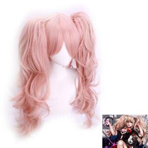 Danganronpa Trigger Happy Havoc Enoshima Junko Cosplay Costume Hair Wig +Wig Cap