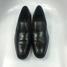 Alfani Men's Loafers Black Leather Slip On Dress Shoes Classic US Size 10.5 M