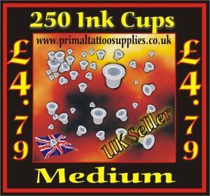 Ink Cups Medium - Bag of 250 pcs (Tattoo Needles - Tattoo Supplies - Tips)