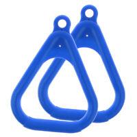 1 Paar Schaukelring Turnringen 120KG für Kinder Outdoor Garten Sport Blau