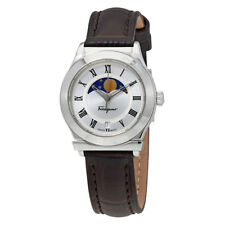Ferragamo 1898 Moonphase Silver Dial Ladies Watch FH1040017