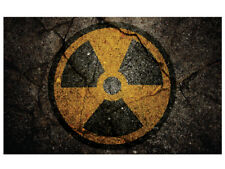 RADIOACTIVE GRUNGE LAPTOP VINYL SELF ADHESIVE STICKERS