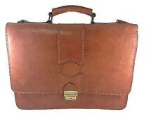 maletin de piel color marron, hecho a mano 100 % piel de vacuno
