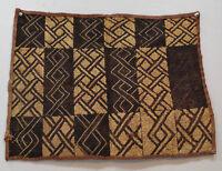 African Kuba Cloth Natural Woven Raffia Zaire Handmade Fabric African Kuba Cloth