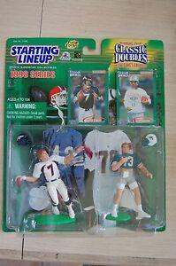 1998 SLU Classic Double JOHN ELWAY+ DAN MARINO Broncos/Dolphins  Starting Lineup