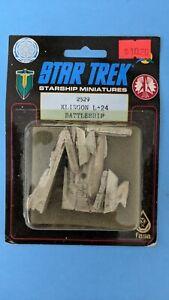 Vintage FASA Star Trek Mini Klingon L-24 Battleship Ship New NOS #2529 Rare!