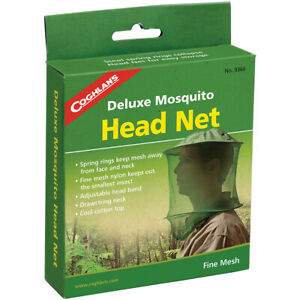 Coghlan's Deluxe Mosquito Head Net, Adjustable, Fine Mesh Stops Small Insects