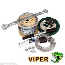 VIPER 60 milioni GIARDINO ZIP FILO pacchetto / ZIP LINEA KIT 8mm FUNE metallica pulsante + SEDILE