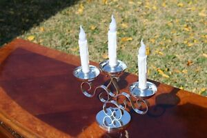Beautiful Christofle 3-Lights Candelabras