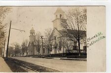 CHURCH STREET, OAKLAND: Maine USA postcard (C7667)