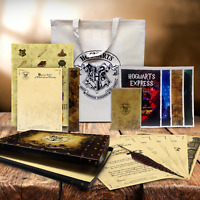 Harry Potter / Hogwarts style Spell writing Feather Quill pen gift box bag set