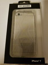 NEW End Scene iPhone 7 Bump Protection Slim Fit Triangles Transparent Case