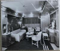CUNARD WHITE STAR LINE RMS QUEEN ELIZABETH STUART BALE SUITE SITTING ROOM PHOTO