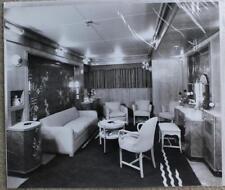 CUNARD WHITE STAR LINE RMS QUEEN ELIZABETH STUART BALE SUITE SITTING ROOM PHOTO