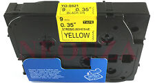 Extra Strenth Adhesive Black on Yellow Label Tape Compatible Brother TzeS621