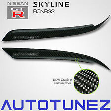Carbon Fiber Car Eyelid Eyebrow For Nissan Skyline R33 GTR GTST Black Autotunez