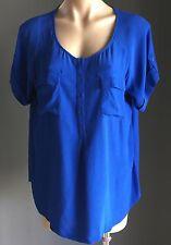 Gorgeous JAG Cobalt Blue Short Sleeve Blouse Size 14/L
