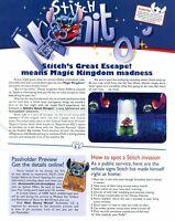 Stitch's Great Escape Grand Opening Stitch Monitor Disney Passholder Newsletter