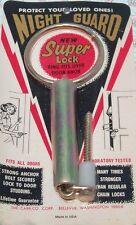 night guard super door lock chain vintage antique safety ring burglar theft