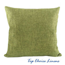 45cm x 45cm Home Decorative Solid Color Linen Look Cushion Cover-Green
