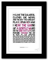 Greatest Hits The Beach Boys Poster Framed Original Art Album Lyrics Print
