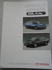 Toyota Corolla Carina E Solair SE brochure Jun 1996