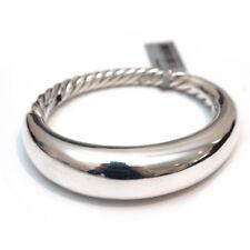 Nuevo con etiquetas pulsera de David Yurman 17mm forma puro en plata esterlina tamaño pequeño/mediano