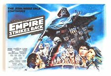 Empire Strikes Back FRIDGE MAGNET (2 x 3 inches) quad movie poster star wars