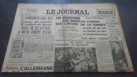 JOURNAUX LE JOURNAL N°17073 MERCREDI 19 JUILLET 1939 ABE