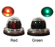 Pactrade Marine Boat Pontoon A Pair of Red Green S.S. LED Navigation Bow Lights