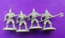 4x guard warriors with polearm monolith games conan boardgame figures #B