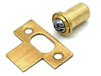 Brass Plated Bales Roller Catch 16mm X 26mm Shallow Hole